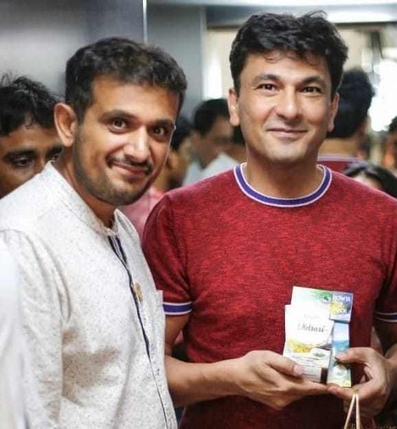 Harshit Sehdev with Chef Vikas Khanna