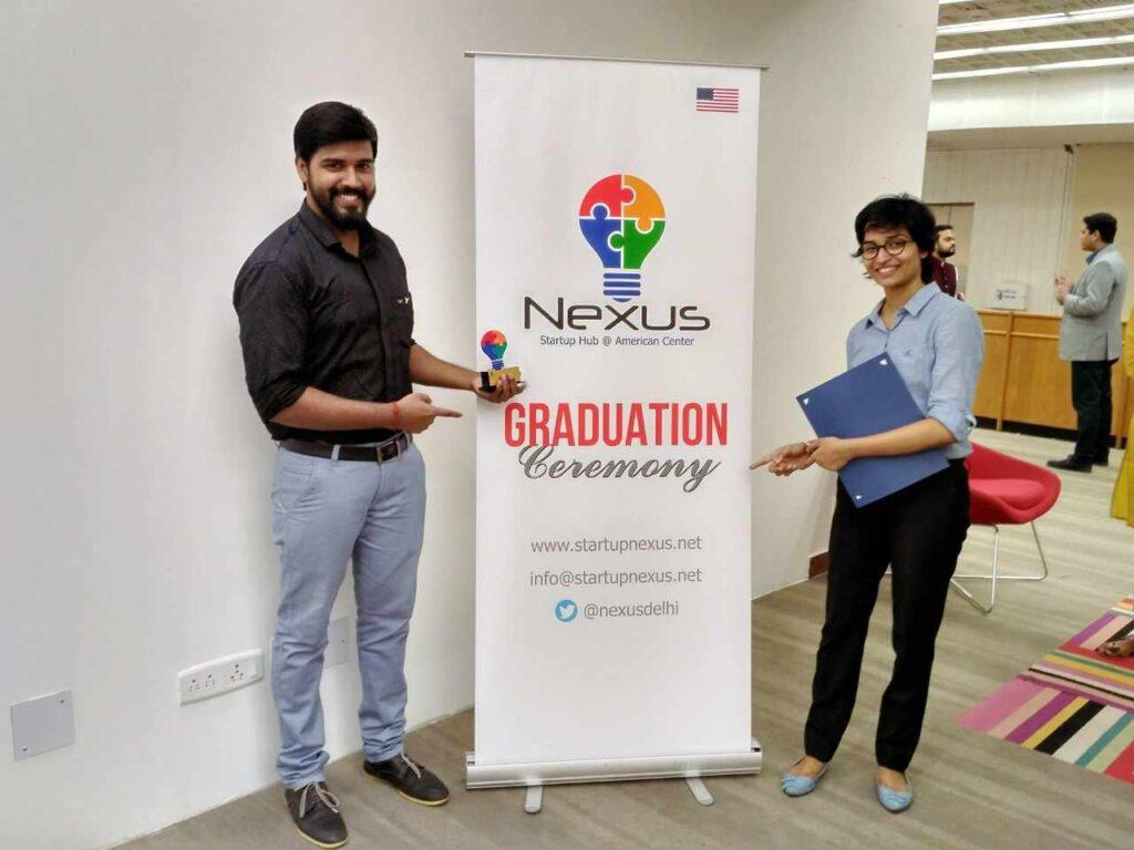 Manya and Sushil of Morphedo on successfully graduating from Nexus Incubator